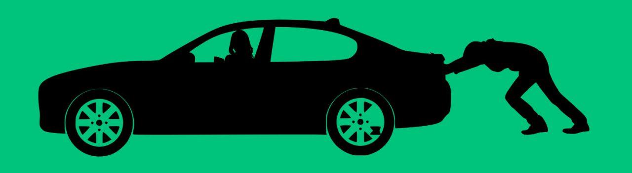 Auto Anschieben Batterie Leer